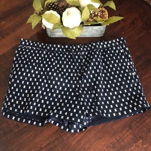 Loft Outlet Geo Drawstring Shorts Sz XL